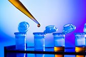image of scientific research  - reprogenetics research in the laboratory - JPG