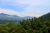 stock photo of west village  - View of the village in the Carpathian mountains - JPG