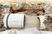 pic of septic  - Close up sewer installation in city in daytime - JPG