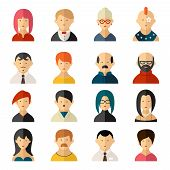 ������, ������: Set of vector user interface avatar icons