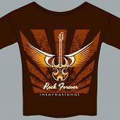 image of memento  - Rock fan grunge tee shirt or t - JPG