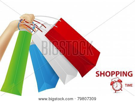 Shopping concept background
