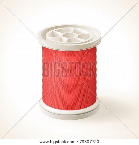 Full Spool Of Red Thread
