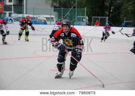 Roller hockey derby in Zell am See, Austria