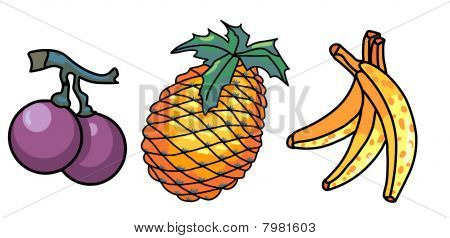 Colored fruits designs