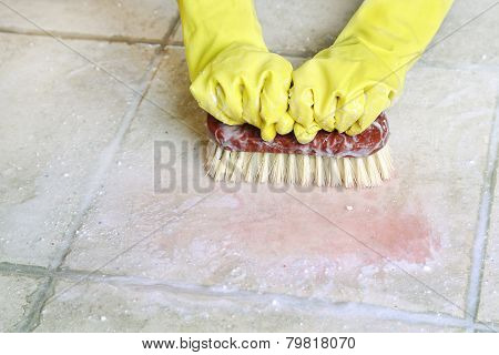 Scrubbing The Floor