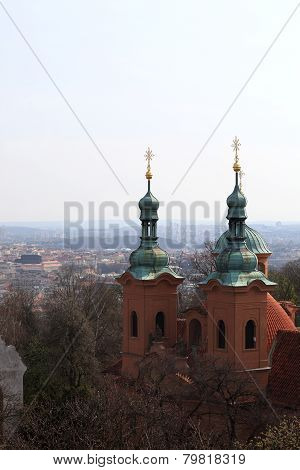 Towers Of Cathedral Of St. Lawrence