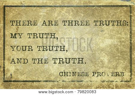 Three Truth Print