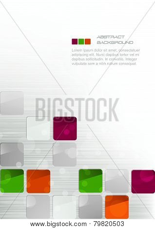 Abstract business background with colorful squares