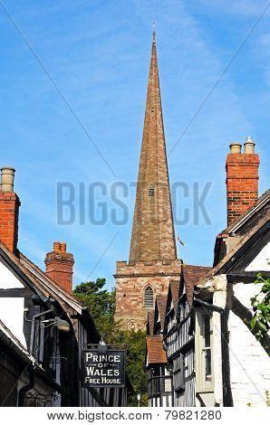 Ledbury Church and Church Lane.