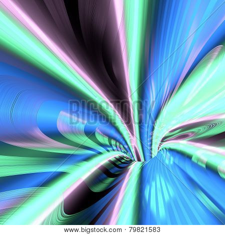 Abstract wormhole color tunnel