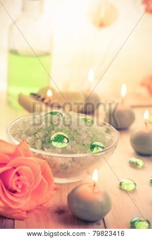 Spa Concept Salt Bath Scented Candles