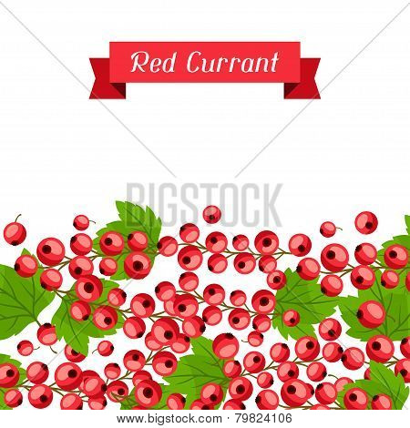 Nature background design with red currants.
