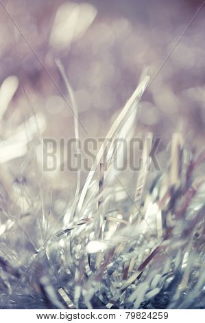 Christmas or New Year Background with tinsel
