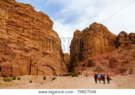 Jordan, Petra, The Ancient City Carved In The Rock