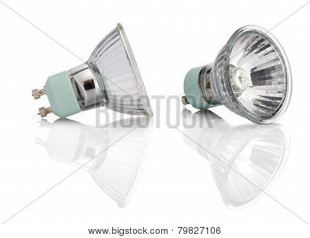Halogen Lights Bulb With Path