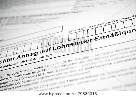 German Tax Form.