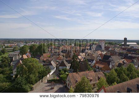 wonderful views over the city of Hanau- Steinheim