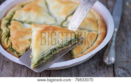 Greek pie Spanakopita