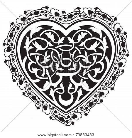 Valentines Day tatto heart