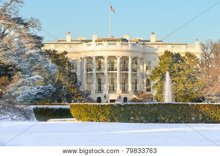 White House in Winter - Washington DC, United States of America