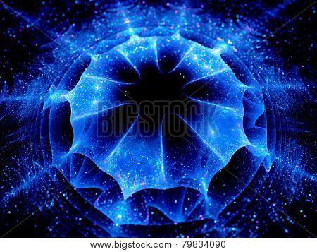 Blue Glowing Wormhole