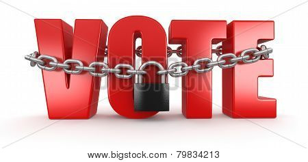Vote and lock (clipping path included)