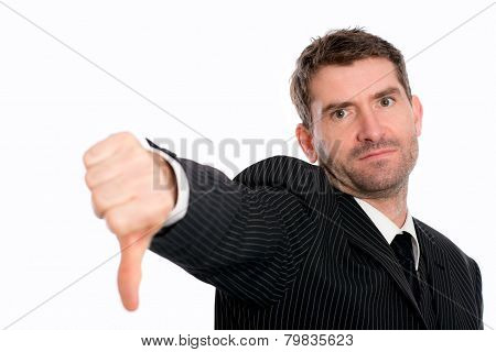 Businessman Withthumb Down