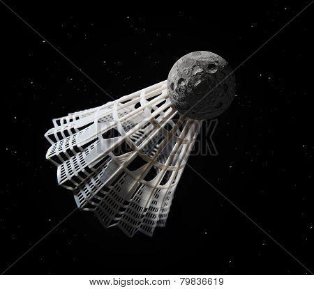 Meteorite shuttlecock