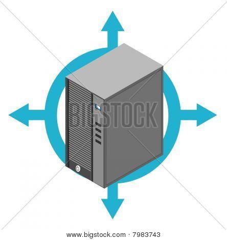 Computer server box