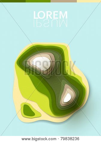 abstract vector 3d shapes