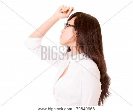 Side Profile Of Chinese Office Lady