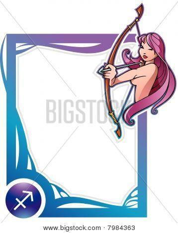 Zodiac frame series: Sagittarius