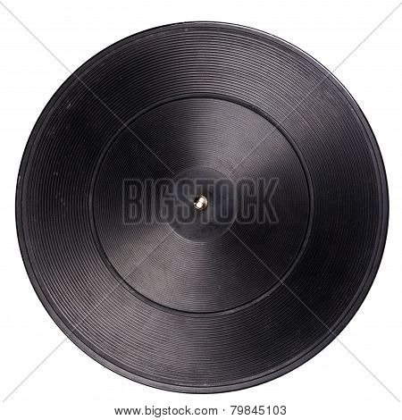 Vintage Turntable Platter With Rubber Mat