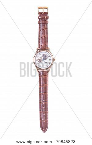 men's wristwatch in isolation