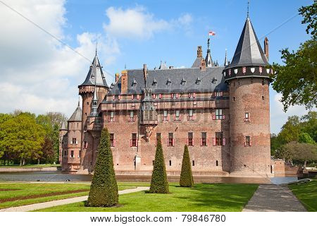 Ancient De Haar castle near Utrecht, Netherlands