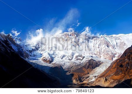 The South Face Of Annapurna I - View From Annapurna Base Camp