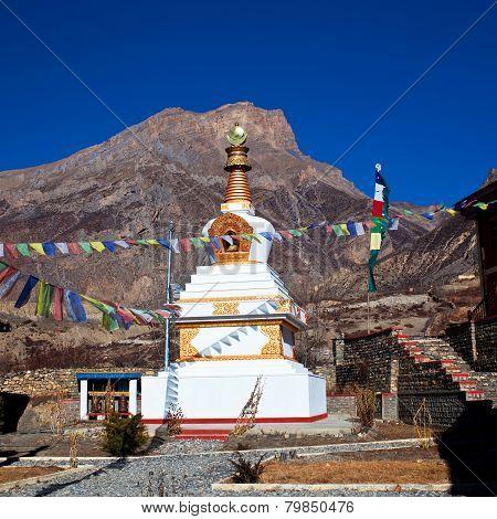 Buddhist Gompa And Monastery In Muktinath, Nepal