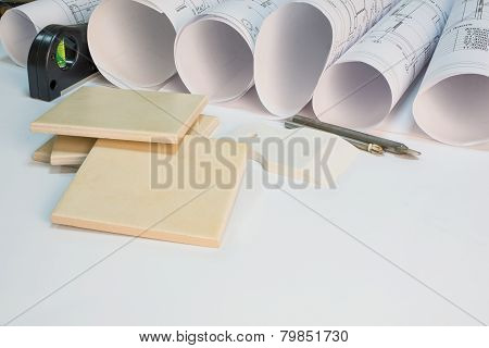 Drawing rolls, construction tools and materials composition