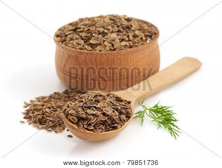 cumin seeds in bowl isolated on white background