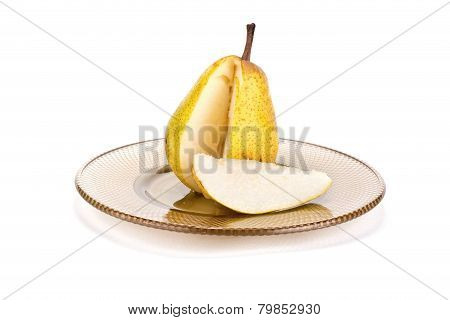 Pear On A Dish