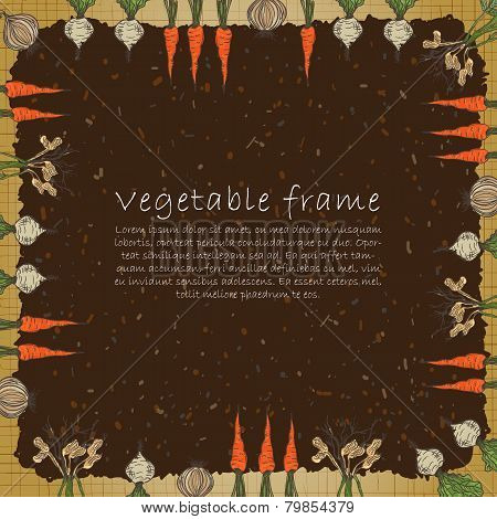 Template of plant vegetable