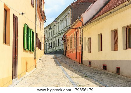 Old Town In The Historical Center Of Sibiu, Romania