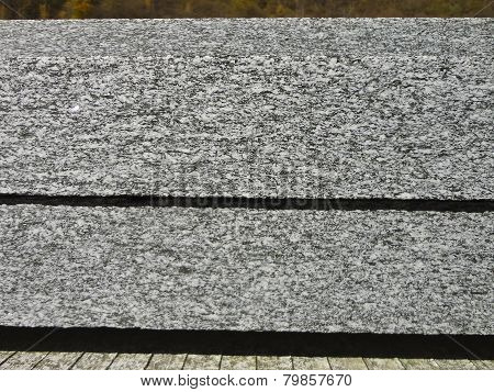 Slabs Of Granite. Section View