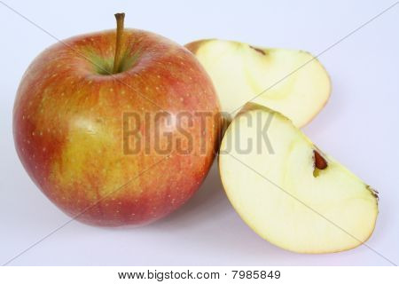 Ripe Apple Fruits On White Background