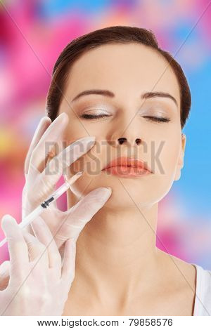 Cosmetic injection before a surgery