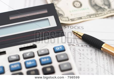 Stock market table analysis