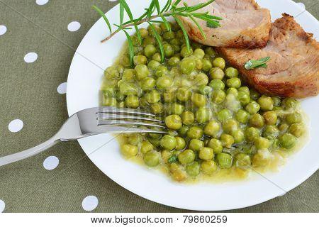 Creamy Peas With Pork