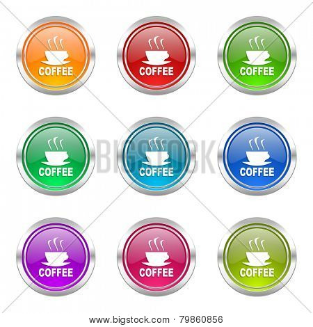 espresso icons set hot cup of caffee sign