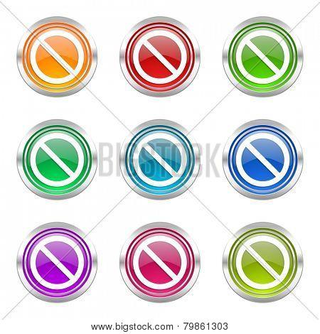 access denied icons set